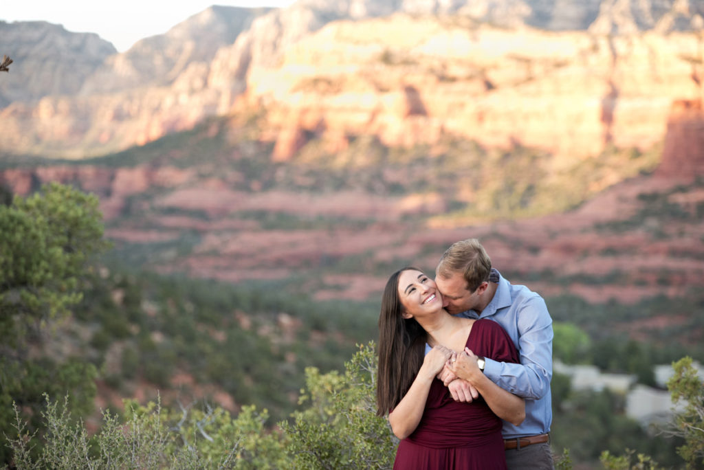 Sedona engagement session in the red rocks