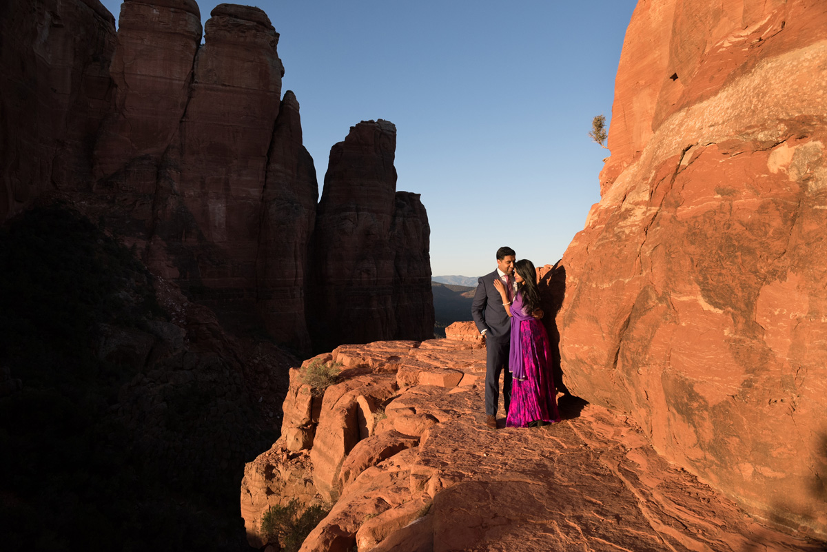 Indian Sedona engagement Cathedral Rock