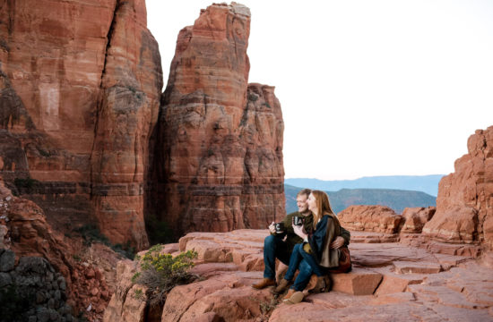 cathedral rock sedona engagement photo