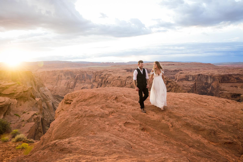 Horseshoe Bend Wedding and Rainbows